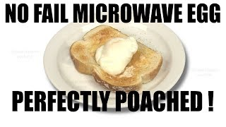 Perfect NO FAIL Microwave Poached Egg Recipe Tutorial