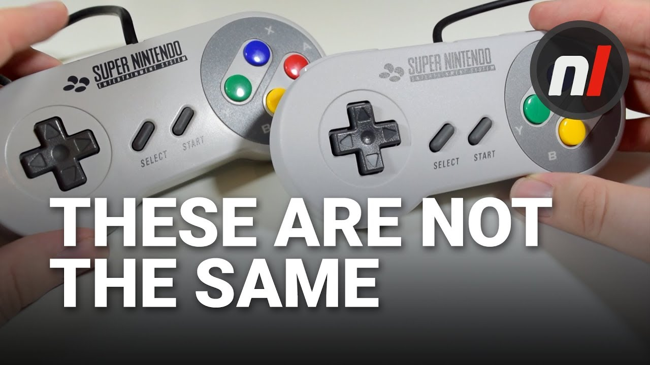 NOT THE SAME - SNES Mini / SNES Original Controller Comparison