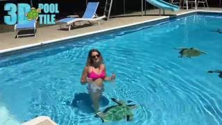 how to put a 3d pool tile in your pool