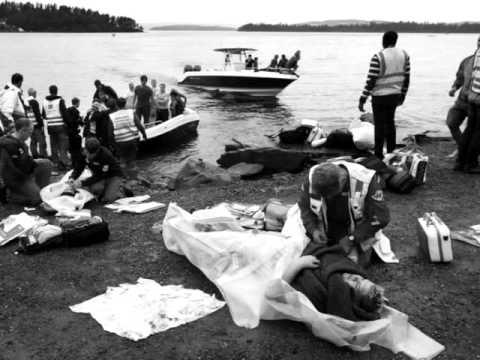 Schietincident op Utøya Noorwegen, (Let op! sommige beelden kunnen als schokkend worden evaren.)