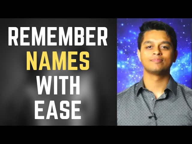 How to Remember Names to increase Memorability & Charisma