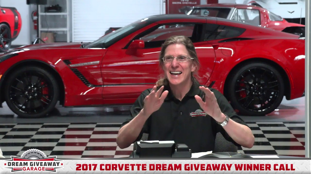 DreamGiveaway com presents: Winner Call-2017 Corvette Dream Giveaway (low  res)