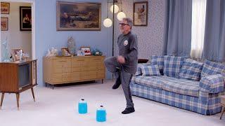 At Home: High knees / Jug Deadlift / Air Squat