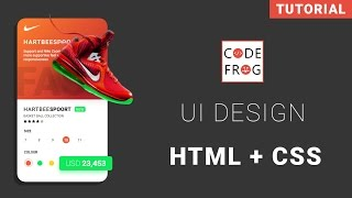UI Design Tutorial - Product Card | HTML CSS Speed Coding