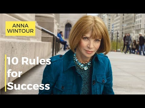 Anna Wintour Tips for Success for Fashion Designers.