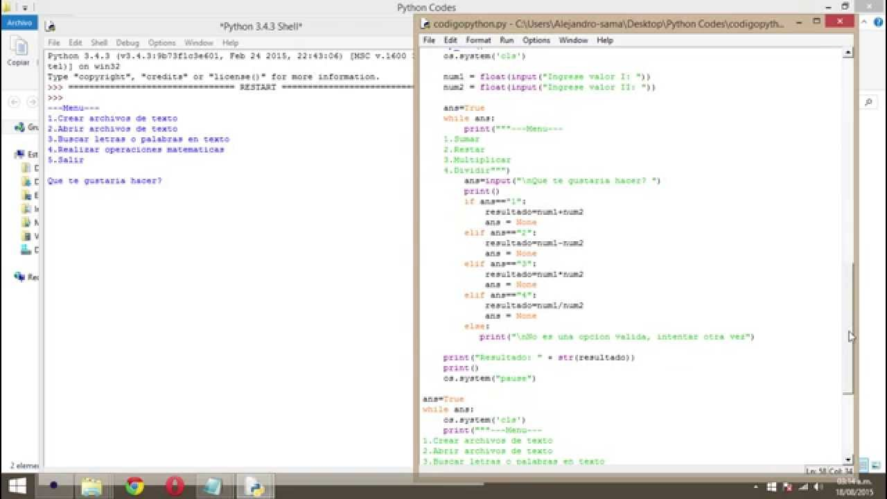 Ejemplo I programación en Python con Idle y Shell - YouTube