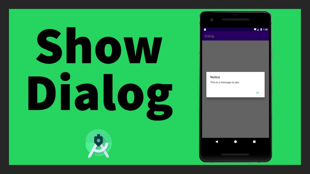 How to show a Dialog   Android Studio   Dialog Fragment