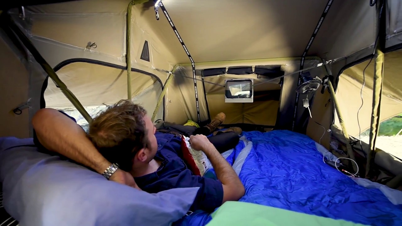 Adventure Kings Rooftop Tent Decked Out Youtube