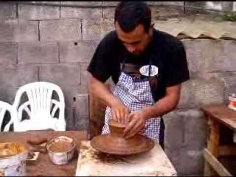 macetas de barro hechas a torno - youtube