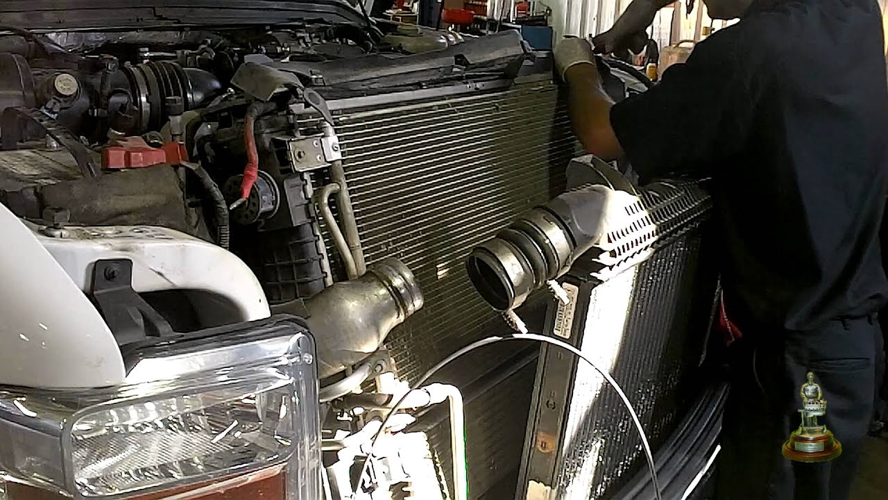 6 4 liter ford powerstroke coolant leaks points radiator removal [ 1280 x 720 Pixel ]