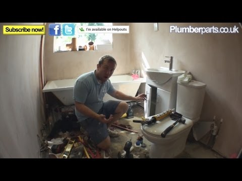 HOW TO FIT A VANITY UNIT BASIN OR SINK - Plumbing Tips
