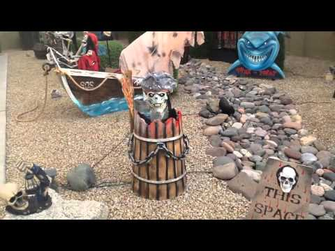 Halloween yard display in Arizona
