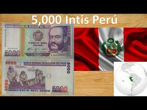 Genial Billete De Coleccion - Peru 5000 Intis (1988) + ¿Como Saber Si Es Verdadero?
