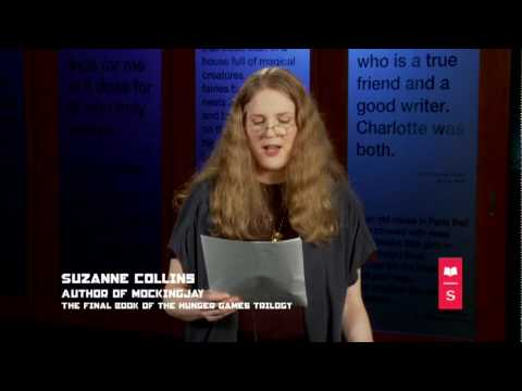 Suzanne Collins reads from the first chapter of MOCKINGJAY