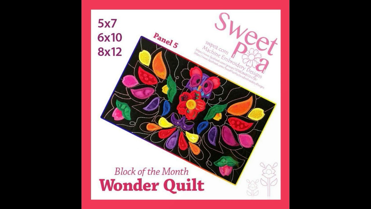 sweet pea embroidery # 76