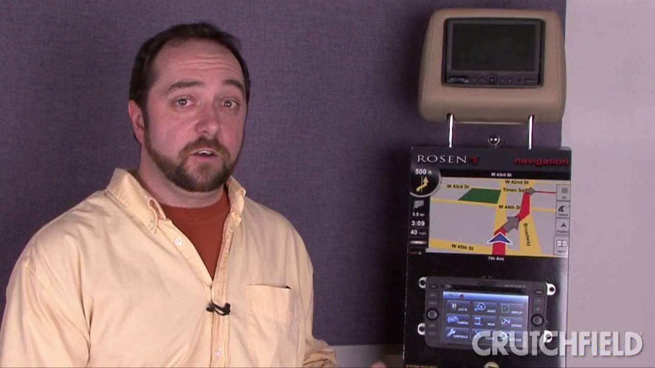 Rosen Navigation Receivers Crutchfield Video Youtube Car Audio Wiring Kit At