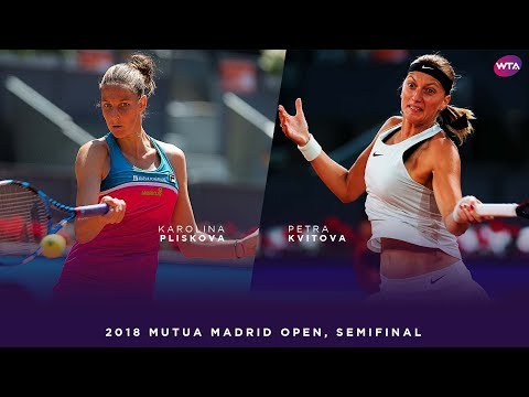 Karolina Pliskova vs. Petra Kvitova | 2018 Mutua Madrid Open Semifinal | WTA Highlights