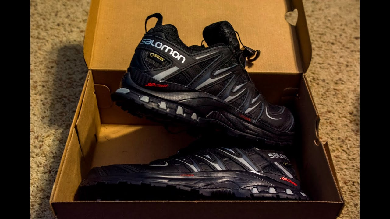 unboxing salomon xa pro 3d gtx shoes jer johns youtube. Black Bedroom Furniture Sets. Home Design Ideas
