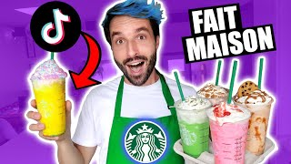 JE TESTE DES RECETTES STARBUCKS DRINKS TIKTOK - CARL IS COOKING