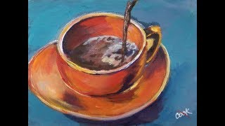 Simple Coffee Painting Busy Artist  Acrylic Video for Beginners with Ginger Cook thumbnail