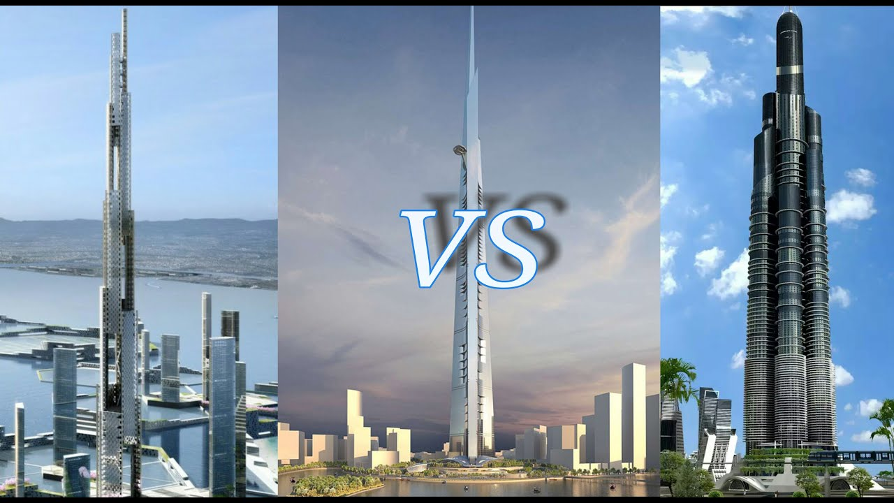 Download Kingdom Tower vs Azerbaijan & Sky Mile Tower 2016 HD