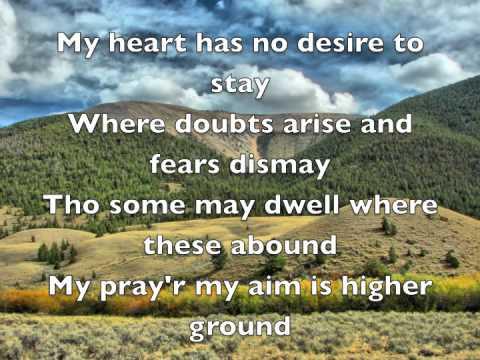 Higher Ground hymn lyrics