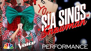 "Sia Is a Real Gift Performing ""Snowman"" - The Voice 2020"