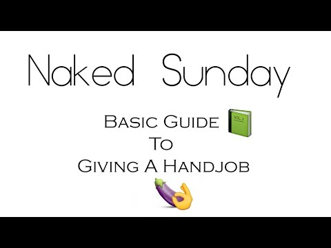 Pretty nude women giving handjob