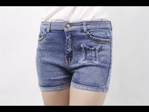 Quần Short Jeans Nữ Lưng Cao