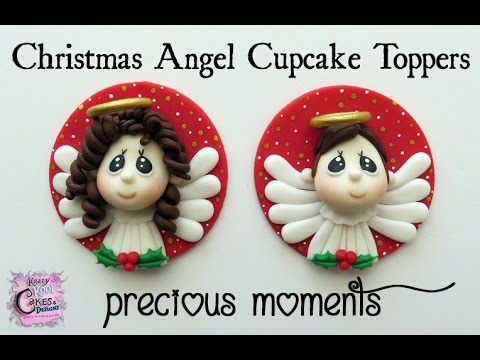 Christmas Angel Cupcake Toppers - Precious Moments Inspired