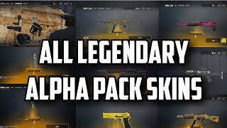 Rainbow Six Siege All Alpha Packs Legendary Skins [Weapons, Head Gear, Charms]