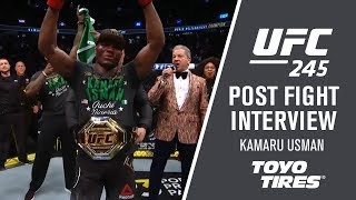 "UFC 245: Kamaru Usman - ""I Wanted To Knock Him Out"""