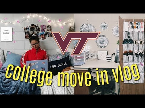 COLLEGE MOVE IN VLOG | Virginia Tech