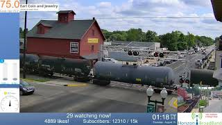 Blown Airline   Train goes into Emergency/Shuts down M-43 HWY