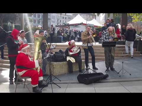 Brass Ensemble Christmas Music @ Union Square San Francisco California 2017