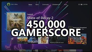 450,000 GAMERSCORE! Looking over my Gamercard & talking about games and achievements at 450k!