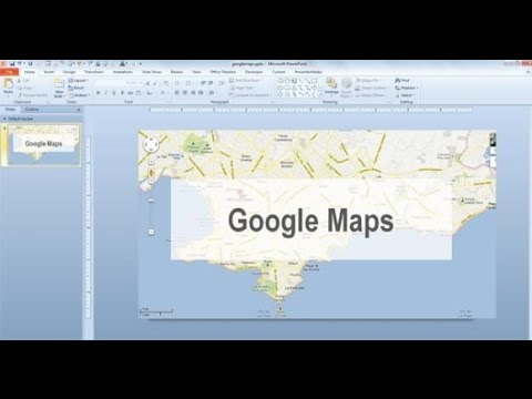 how to add google maps to powerpoint 2016