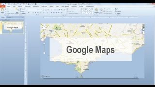 How to add Google Maps to powerpoint 2016 Free HD Video