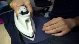 お気に入りのジーンズの補修を、アイロンを使って手軽に補修してみまし...
