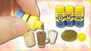 미니어쳐 미니언즈 우유 만들기 (실제로 우유가 나와요 !) Miniature Minions Milk ミニチュア |HATSAE 핫새