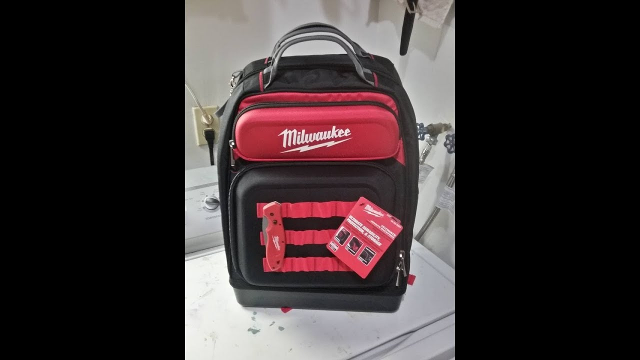 a1e2f2eebb34 Milwaukee ultimate jobsite backpack 48-22-8201 unboxing video - YouTube