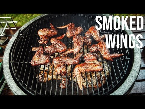 KILLER Smoked Wings On The Big Green Egg