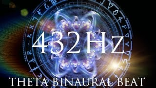 DEEP Theta Binaural Beat ➤ LET GO of Negative Thoughts & Unwanted Feelings ➤ Healing Vibration
