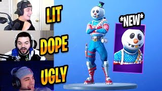 STREAMERS REACT TO NEW SLUSHY SOLDIER (SNOWMAN) SKIN - Fortnite Best & Funny Moments #256
