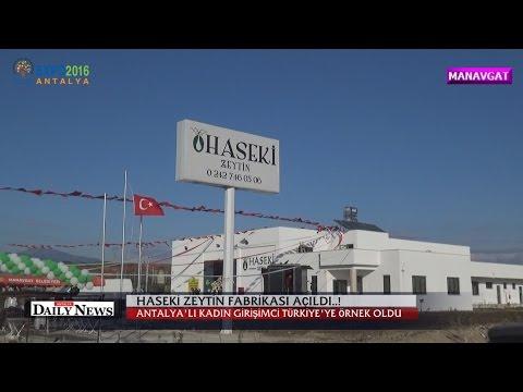 Manavgat Ta Haseki Zeytin Fabrikasi Acildi