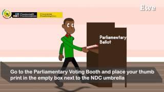 Voting Procedure (Ewe Language)