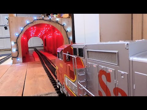 Model Railway Train Track Plans -Super Suggestions For Big Model Trains Through A Red Tunnel