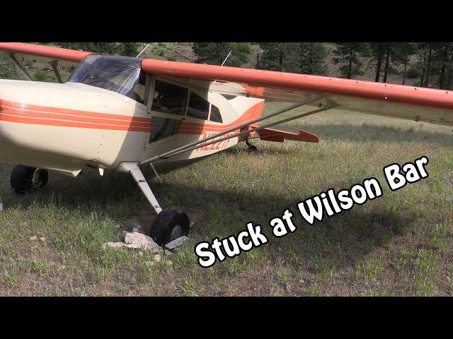 that time the plane got stuck at wilson bar, idaho