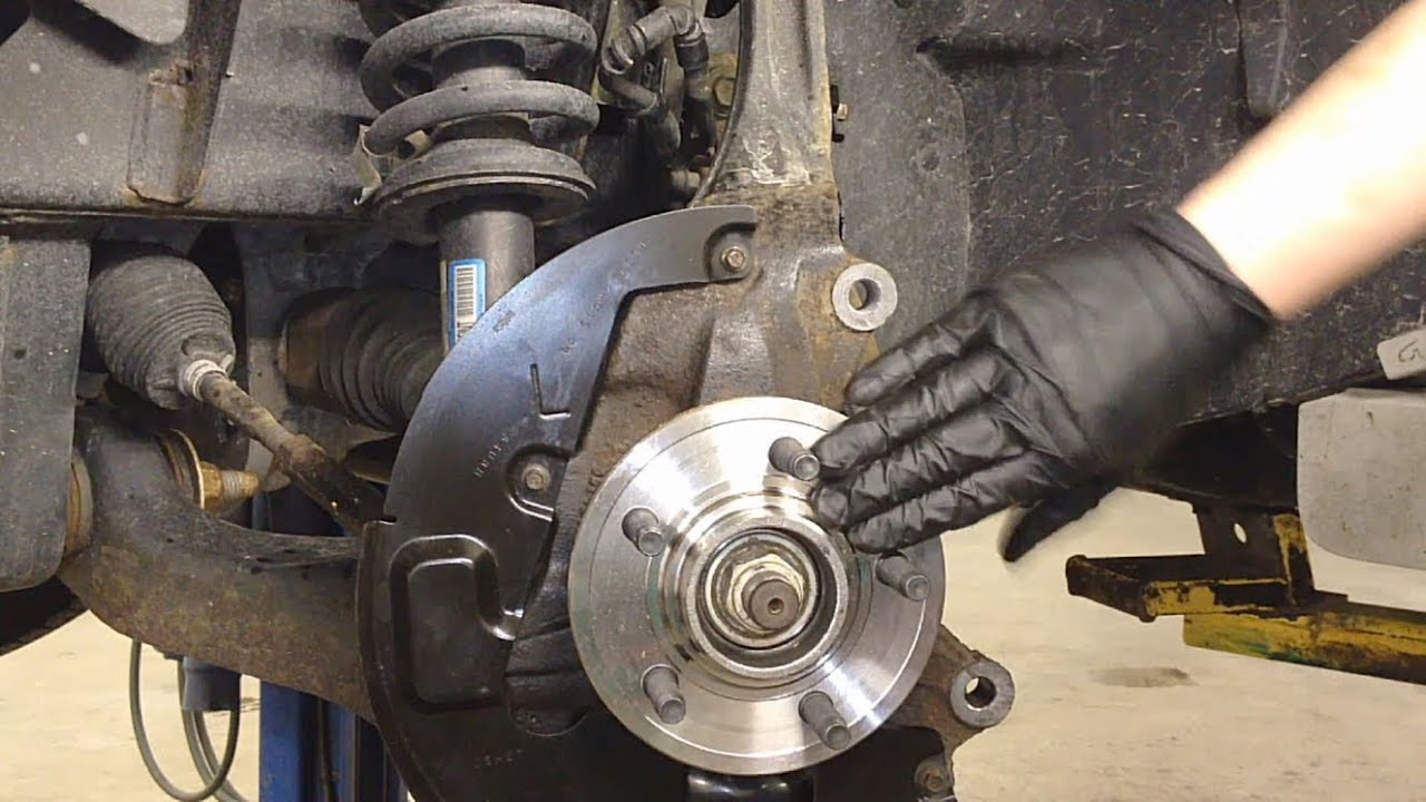 ford explorer  front hub bearing repair youtube