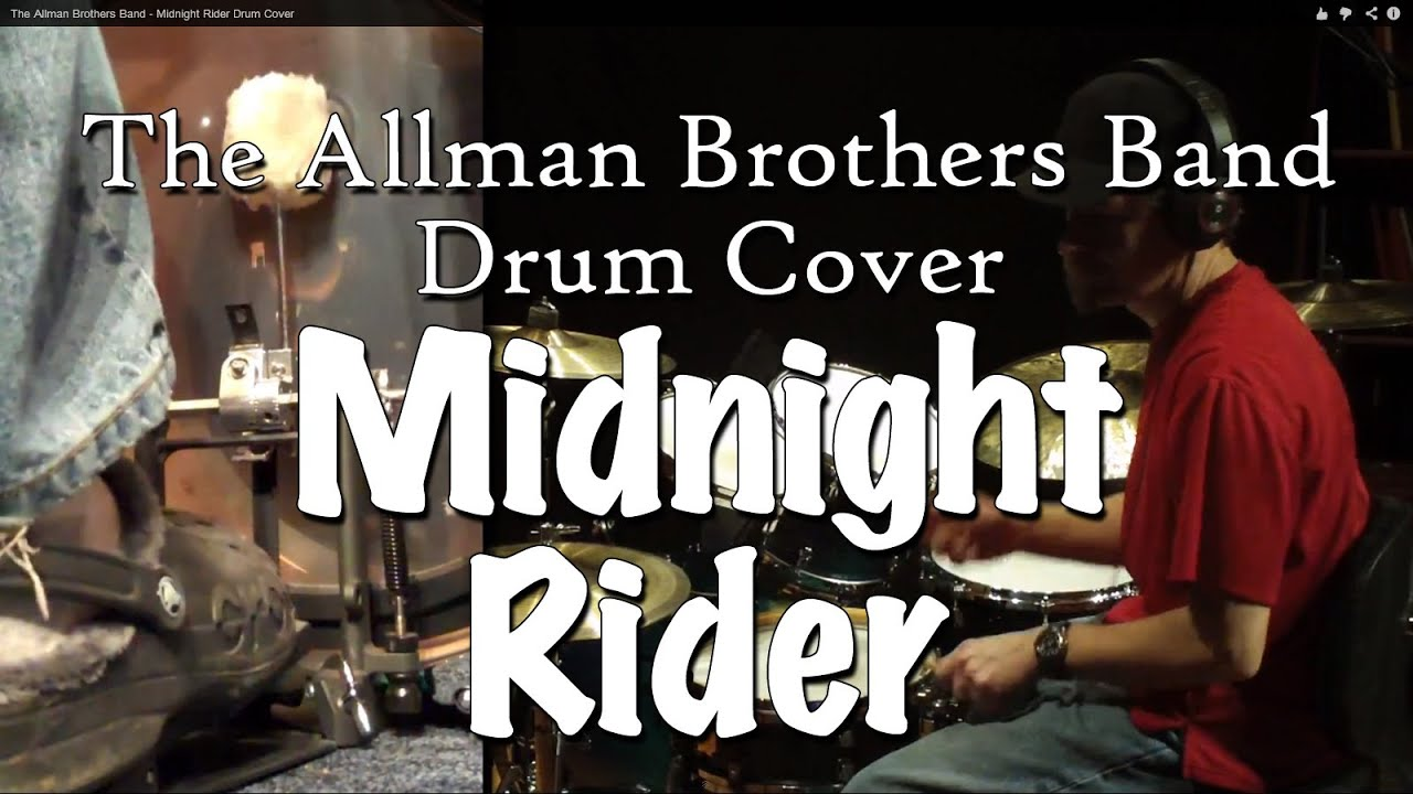 The Allman Brothers Band - Midnight Rider Drum Cover - YouTube